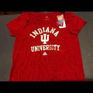 NWT adidas Indiana Hoosiers NCAA Woman's L Shirt